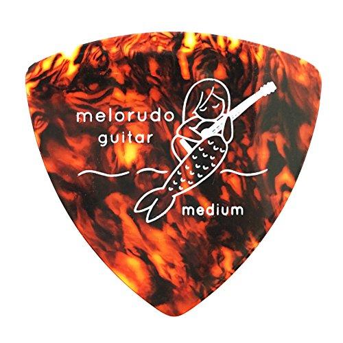 【melorudo(メロルド)】 デザインギターピック guitar pick トライアングル(おにぎり型) triangle エレキギター/アコースティックギター/クラシックギター/ベース等の練習に最適な大量セット ブラウン M(ミディアム medium)100枚セット ma100001c10n0