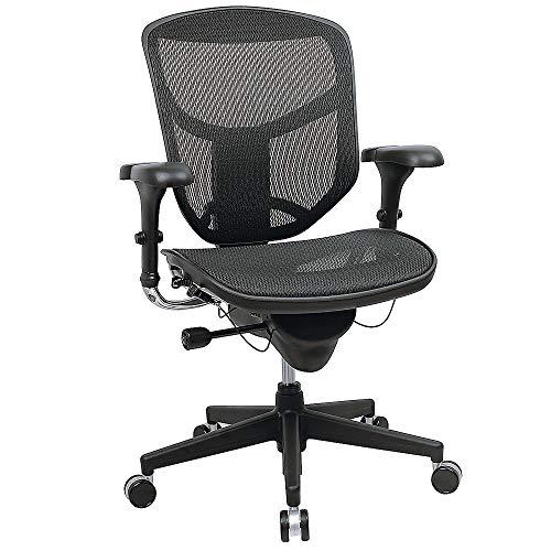 WorkPro(R) Quantum 9000 Series Ergonomic Mid-Back Mesh/Fabric Chair, Black