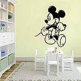 wZUN Pegatinas de Pared para niños Pegatinas de ratón de Dibujos Animados Dormitorio niños decoración del hogar Personalizada Pegatinas de Pared de Vinilo de jardín de Infantes 63X81cm