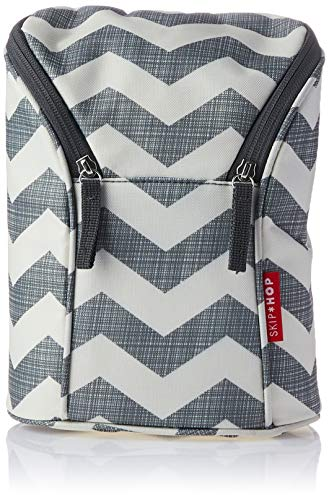 Skip Hop Insulated Breastmilk Cooler And Double Baby Bottle Bag, Chevron