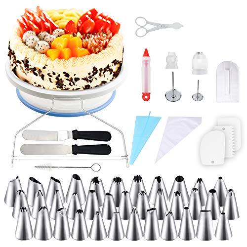 WisFox Decoración de Pasteles, Torta Giratoria, 152 Piezas