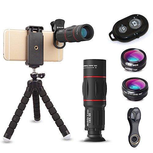 ActyGo (高品質HD18X望遠レンズ付きスマホレンズ4点セット) 正規品 Bluetooth ワイヤレスリモコン ゴリラポ...