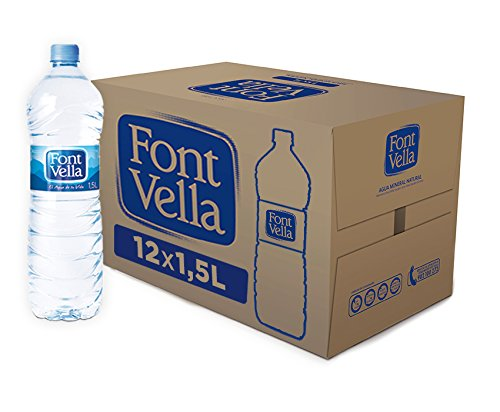 Font Vella - Agua Mineral Natural fácil de apilar- Caja 12