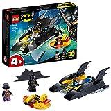 LEGO DCBatman All'inseguimento del Pinguino con la Bat-barca, Giocattolo per bambini dai 4 anni in poi, 76158