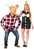 Rasta Imposta Deer in Headlights Couple Costume Black