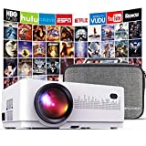 DBPOWER L21 LCD Video Projector with Carrying Case, 6000L 1080P Supported Full HD Projector...