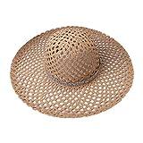 YOYOHO Chapeau de Soleil en Filet pour Femmes d'été en Paille...