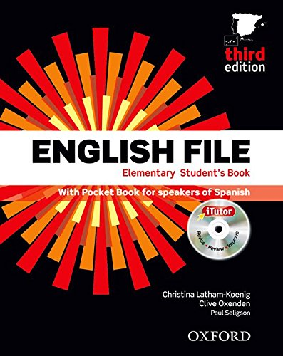 English File Elementary, Third Edition (Student's Book , Pocket Book, iTutor DVD, Workbook with Key