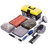 Mofeez 9pcs Car Cleaning Tools Kit with Blow Box Car Tire Brush Wash Mitt Sponge Wax Applicator...