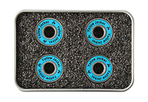Yellow Jacket Premium Scooter Bearings, Kick Scooter, 608, ABEC 11, Bomber Blue (Pack of 4)