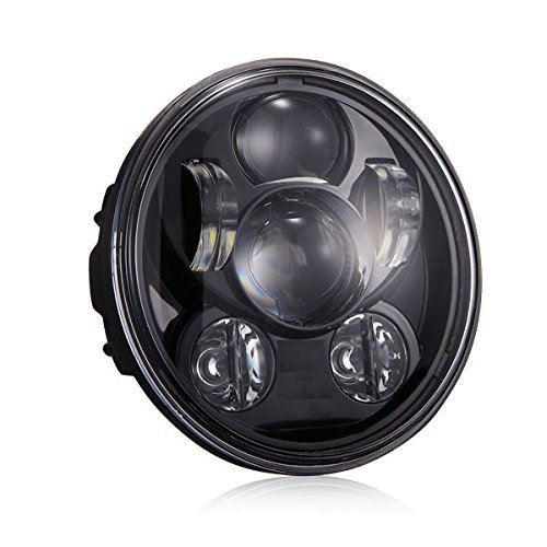 """Di&Mi 5-3/4\""""5.75\"""" Runde LED-Projektion Daymaker Scheinwerfer für Harley Davidson Motorräder Schwarz"""