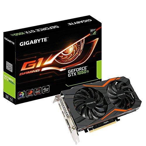 Gigabyte GeForce GTX 1050 Ti G1 Gaming 4G Scheda Grafica, Interfaccia PCIe 3.0, Memoria da 4 GB GDDR5, 128 bit, 768 Cuda Cores, Nero