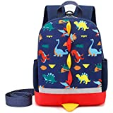 Cosyres Toddler Backpack Dinosaur Preschool for Boys with Leash Chest Strap