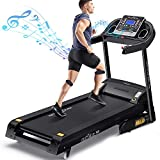 DR.GYMLEE Folding 3 Auto Incline 300LB Weight-Capacity Smart Treadmill, Easy Assembly Electric...