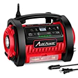 Avid Power Tire Inflator Air Compressor, 12V DC / 110V AC Dual Power Tire Pump with Inflation and Deflation Modes, Dual Powerful Motors, Digital Pressure Gauge