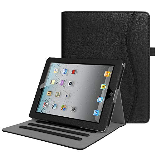Fintie Case for iPad 2 3 4 (Old Model) 9.7 inch Tablet - [Corner Protection] Multi-Angle Viewing Smart Stand Cover with Pocket, Auto Sleep/Wake for iPad 2, iPad 3 & iPad 4th Gen Retina Display, Black