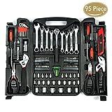 KINGORIGIN 95 Piece Home Repair Tool Kits,Multi Tools Set, Homeowner...