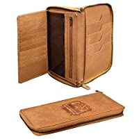 ✔ Multi Functional: This Genuine Leather Passport Holder Wallet is multi functional and can be used as Gift Wallet, Card Case, Card Holder, Gift Set, Travel Wallet, Cheque Book Holder etc.. ✔ Multi Compartment: This wallet has two compartments to sto...