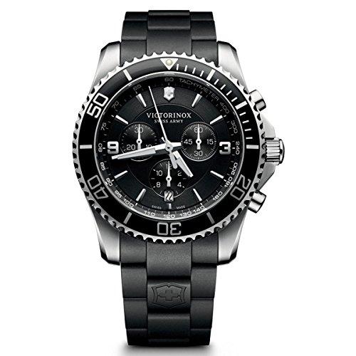 Victorinox Herren-Armbanduhr Maverick Chronograph Quarz Plastik 241696
