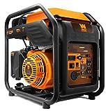 WEN GN400i RV-Ready 4000-Watt Open Frame Inverter Generator, CARB Compliant, Black/orange