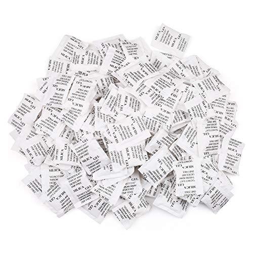 LotFancy Bolsas de Gel de Sílice, 2g x 150 Paquetes Desecan
