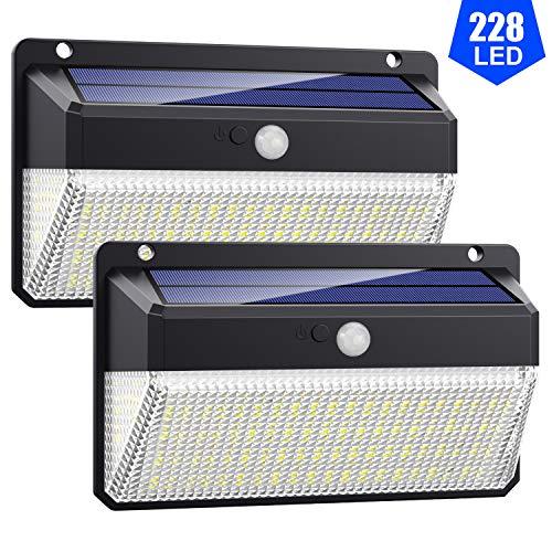 Lampade Solari a da Led Esterno, Alta Efficienza 228LED-2200mAhVOOE Luce Solare Led Esterno Sensore...