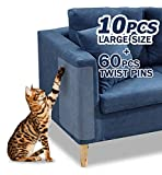 10 Pcs Furniture Protectors from Cats, Clear Self-Adhesive Cat Scratch Deterrent, Couch Protector 4 Pack X-Large (18'L 12'W) + 4 Pack Large (18'L 9'W) + 2 Pack (18'L 6'W) Cat Repellent for Furniture,