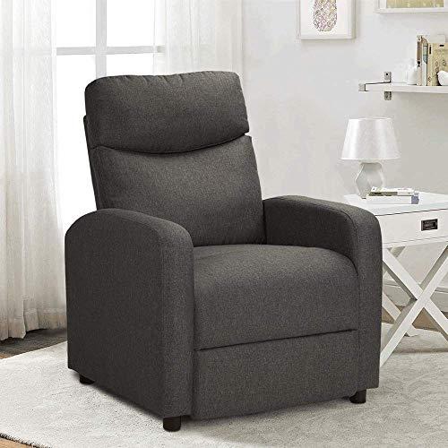 Relaxsessel Fernsehsessel Sessel Polstersessel Cinemasessel Sofa Recliner Einzelsofa Sessel Sackleinenmaterial (Grau)