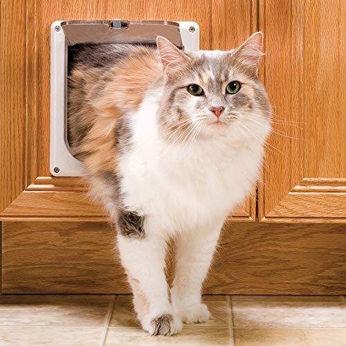PetSafe Puerta interior para gato con cerradura de 2 vías, color blanco