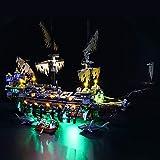 BRIKSMAX Kit de LED pour Lego Pirates of The Caribbean Silent Mary,Compatible avec la Maquette Lego 71042, La Maquette de Construction n'est Pas Incluse
