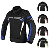 ALPHA CYCLE GEAR BREATHABLE BIKERS RIDING PROTECTION MOTORCYCLE JACKET MESH CE ARMORED (BLUE MOON, XXXX-LARGE)