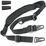 Tactical Hero 2 Point Rifle Sling - Fits Any Gun, Easy Length Adjuster, Shoulder Pad, 30'-56'- BDS 2x2 Hunting
