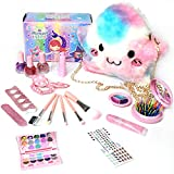 Sponsi 18 Pcs Kit De Maquillaje Niñas,Play House Set Cosméticos Lavables Maquillaje Juguetes,maletín Maquillaje Niñas