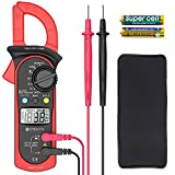Etekcity Digital Clamp Meter Multimeter AC Current and AC/DC Voltage Tester with Amp, Volt, Ohm, Continuity, Diode and Resistance Test, Auto-Ranging, Red, MSR-C600