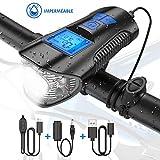 Tesecu Lampe Vélo LED Ordinateur, 3 en 1 Éclairage vélo avec...