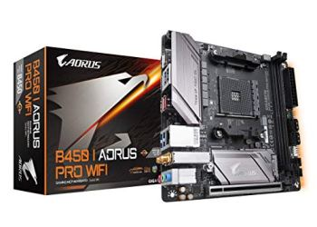 GIGABYTE B450 I AORUS PRO WIFI (AMD Ryzen AM4/Mini ITX/M.2 Thermal Guard with Onboard Wifi/HDMI/DP/USB 3.1 Gen 2/Motherboard)