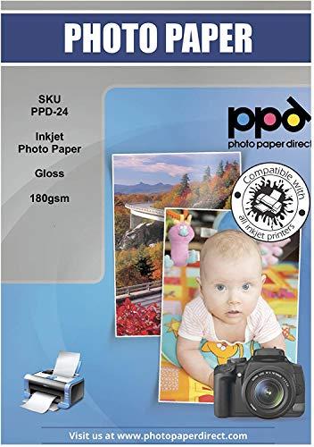 PPD A4 50 Fogli 180g Carta Fotografica Lucida Per Stampanti A Getto D'Inchiostro Inkjet - PPD-24-50