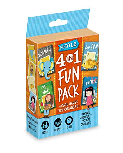 Hoyle 6 in 1 Fun Pack - Kids Card Games - Ages 3 & Up - Memory, Go Fish, Cr...