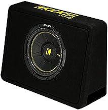 "Kicker 10"" 600 Watt 4 Ohm Vented Thin Profile Subwoofer Enclosure | 44TCWC104"