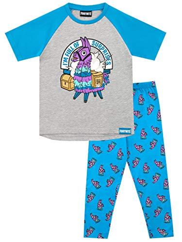 Fortnite Pijamas de Manga Corta para niños Llama Multicolor 14-15 Años