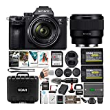 Sony a7 III Full Frame Mirrorless Camera with 28-70mm, FE 50mm f/1.8 Lens, 64GB Card, and Accessory...