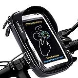 Support Vélo Téléphone Etanche, LEMEGO Support Smartphone Universel Sacoche Vélo pour Guidon de Vélo VTT Moto Scooter avec Housse Transparante Ecran Tactile Rotation 360° pour Smartphone sous 6 Pouces