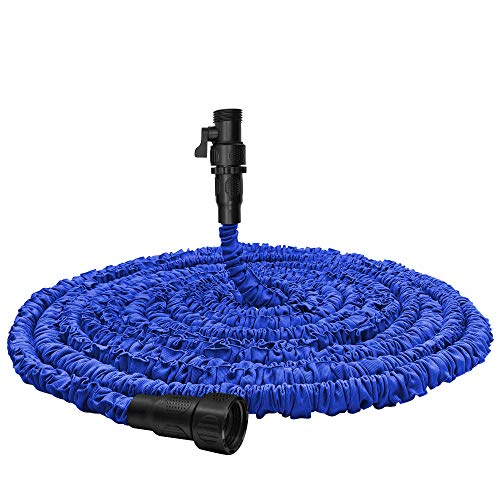 Garden Hose, Water Hose, Upgraded 50FT Flexible Pocket Expandable Garden Hose with 3/4' Fittings, Triple-layer Core, Flexi Expanding Hose useful house gifts for Outdoor Lawn Car Watering Plants (50FT)