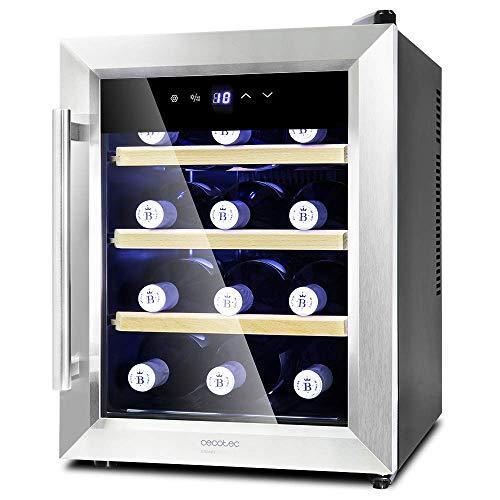 Cecotec Vinotecas da 8-16 bottiglie Design porta in vetro, pannello touch e schermo LED Legno 12...