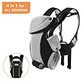 Bable Baby Carrier Ergonomic, Soft Carrier Newborn-for Baby 8-20 Lbs-Baby Wrap Carrier Comfortable for All Seasons, Baby Backpack Carrier Hiking, Baby Gifts for Newborn, Black