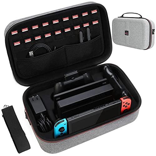 HEYSTOP Etui pour Nintendo Switch Pochette avec 18 Emplacement pour Carte...