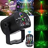 Laser Lights,DJ Disco Stage Party Lights Sound Activated Led Projector Time Function with Remote Control for Christmas Halloween Decorations Gift Birthday Wedding Karaoke KTV Bar