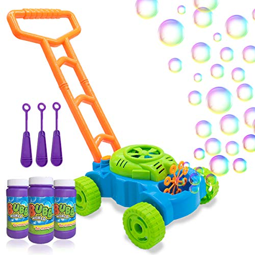 Lydaz Bubble Mower for Toddlers, Kids Bubble Blower Machine...