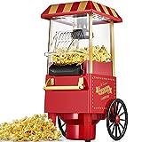 Machine à Pop Corn, 1200W Retro Machine à Popcorn avec Air Chaud, Sans...