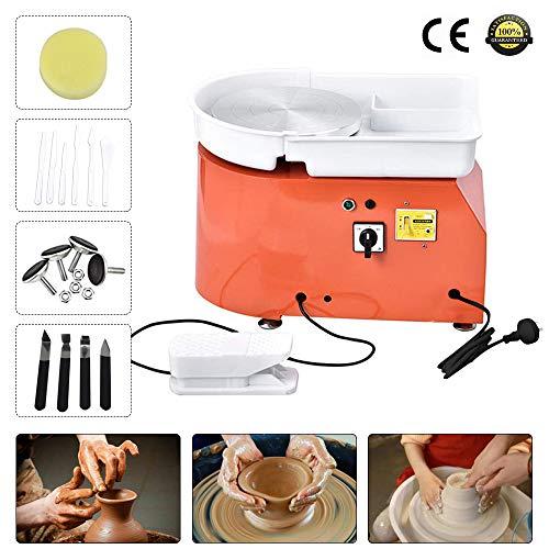 TOPQSC Ruota di ceramica elettrica 25CM 350W Macchina per Ceramica Ceramica Strumento per Formare...